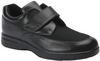 Drew - Men's Journey II Black Leather and Stretch Velcro Slip On