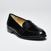 Zelli Tuscany Crocodile Penny Loafer Black