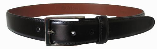 Alden - Men's 30mm Black Calfskin Dress Belt With Nickel buckle mb0111