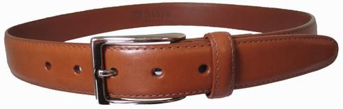 Alden - Men's 30mm Tan Calfskin Dress Belt With Nickel Buckle mb0113