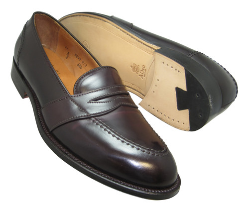 Alden Men's Full Strap Slip-On Loafer in Color 8 Shell Cordovan #684