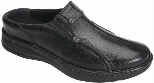 Drew - Men's Jackson Black Tumbled Leather Clog