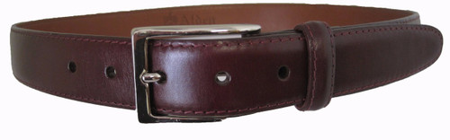 Alden - Men's Dark Brown 30mm Calfskin Dress Belt With Nickel Buckle