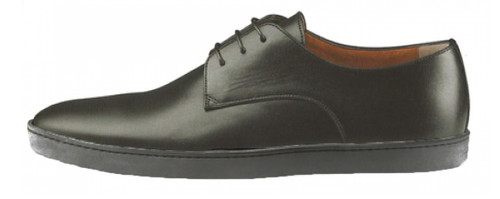 Santoni Doyle Lace-Up Black Shoe