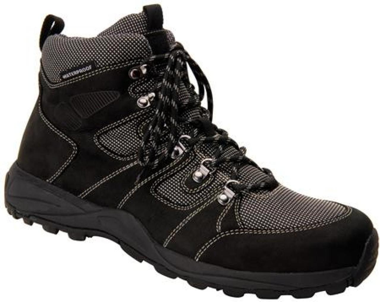 Drew - Men's Trek Black Nubuck Waterproof Boot