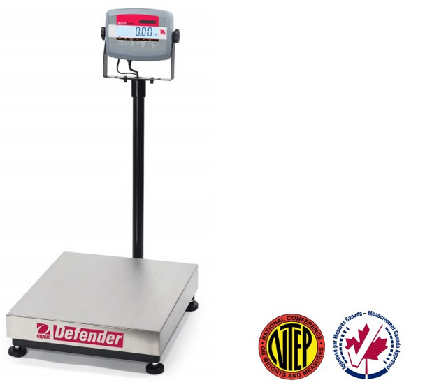 OHAUS D31P30BR Defender 3000 Bench Scale, 66 lb x 0.01 lb, NTEP
