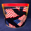 """American Flag"" - 2 Gallon ARGIRES Gourmet Popcorn Gift Tin"