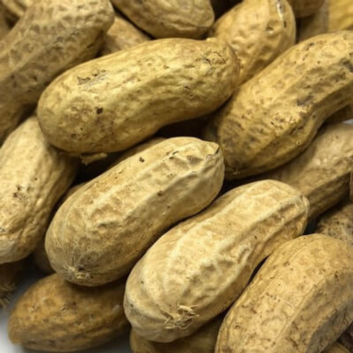 Raw in shell peanuts. Sold by the lb.