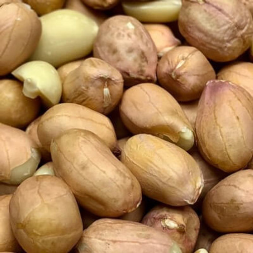 Raw Spanish peanuts. No shell. Sold by the lb.