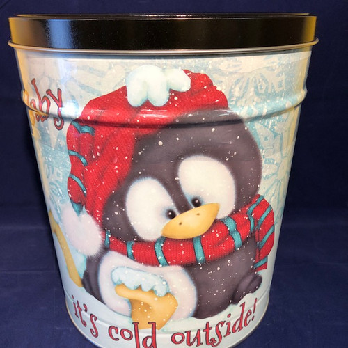 """Baby, It' cold outside"" - 3.5 Gallon ARGIRES Gourmet Popcorn Large Gift Tin"