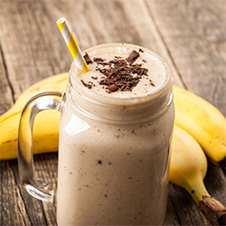 Chocolate Covered Banana Protein Shake