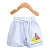 Applique Sailboat Swim Trunks