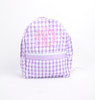 Lavender Check Seersucker Backpack (POCL-ACC13-18)