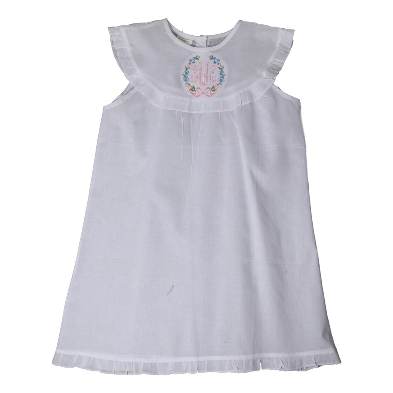White Cotton Nightgown - Smocked Threads by Cecil and Lou