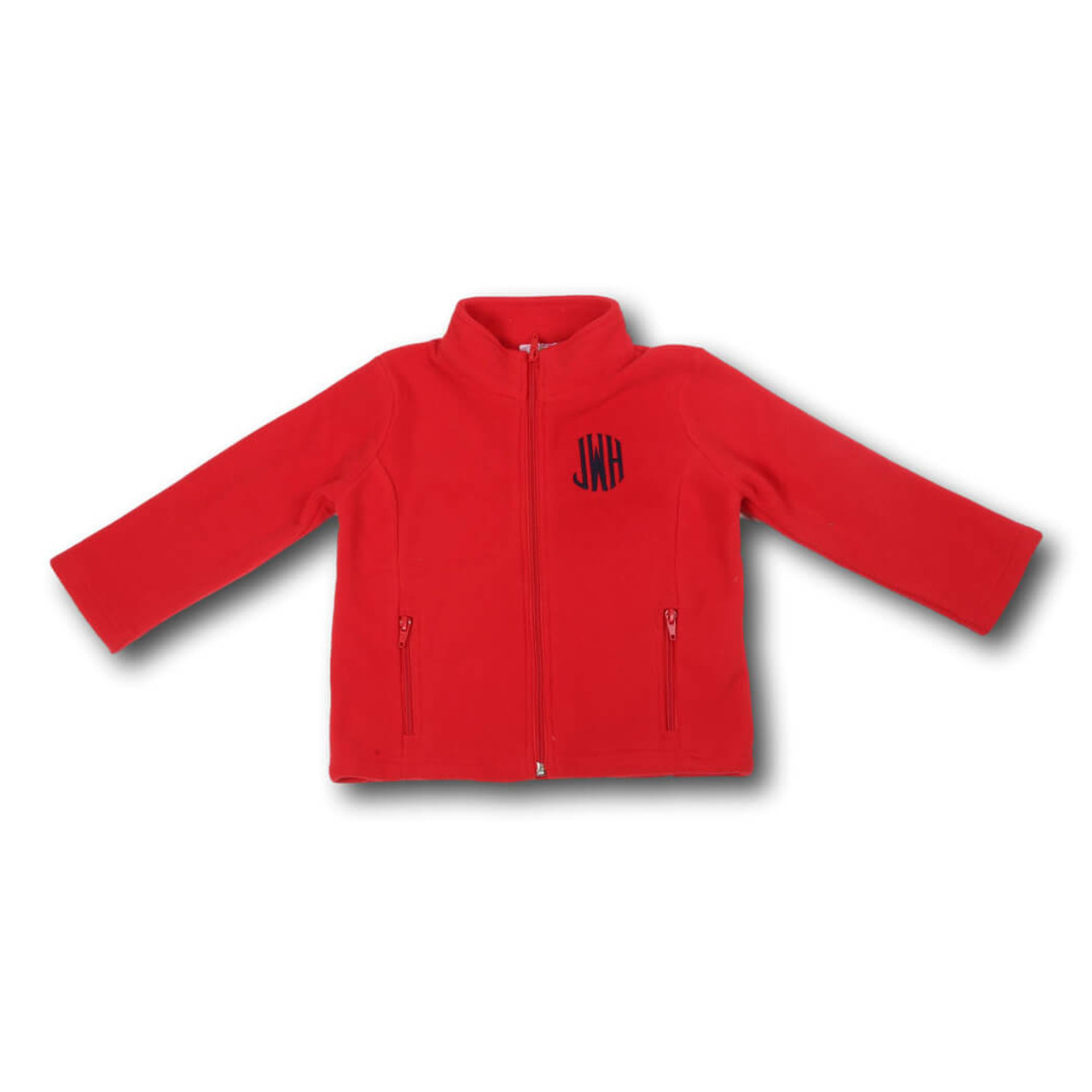 Red Fleece Jacket - Smocked Threads by Cecil & Lou