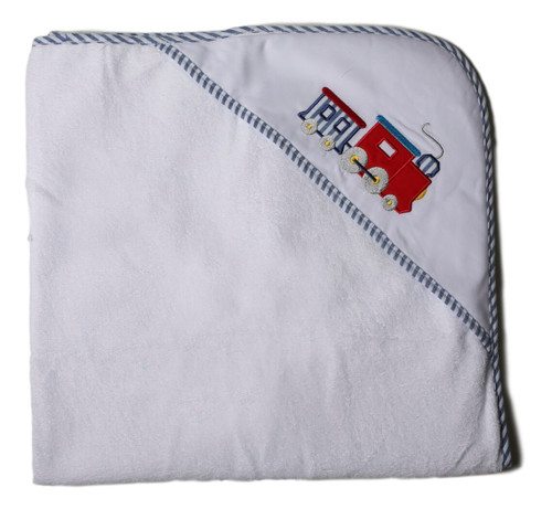 Embroidered Train Hooded Towel
