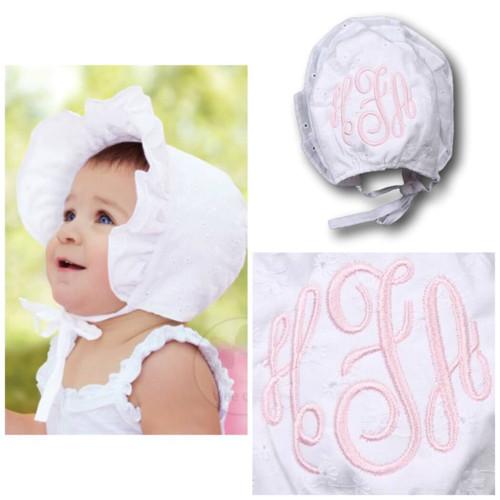 White Eyelet Bonnet