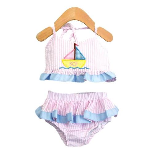 Applique Sailboat Bikini