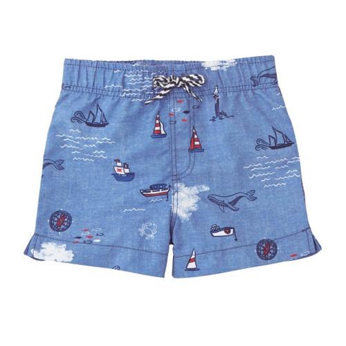 Boys Swimsuits - Sail Away Swim Trunks