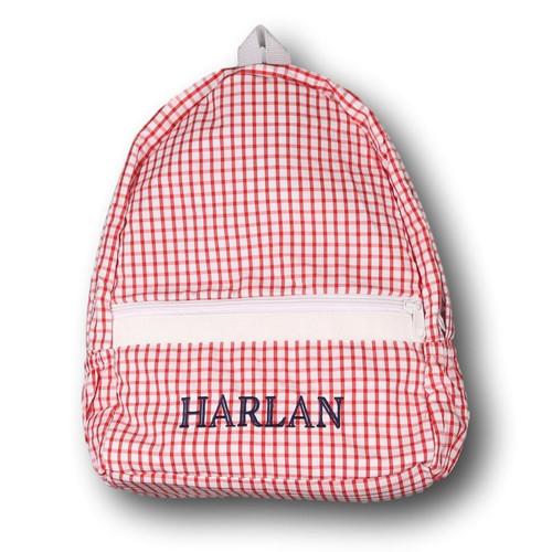 Red Windowpane Backpack (POCL-ACC3-18)