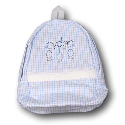 Blue Windowpane Backpack (POCL-ACC4-18)