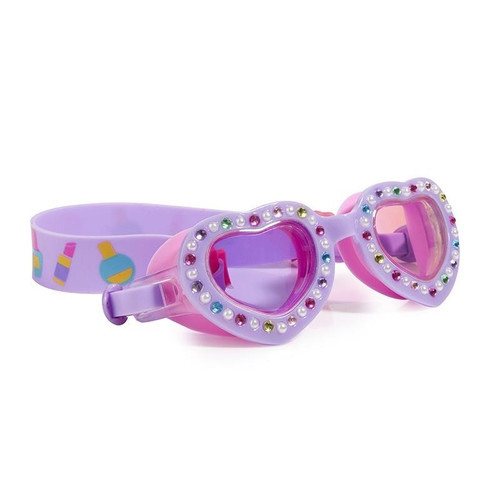 Victorian Violet Heart Kid's Swim Goggles (ISCL-VVH-18)