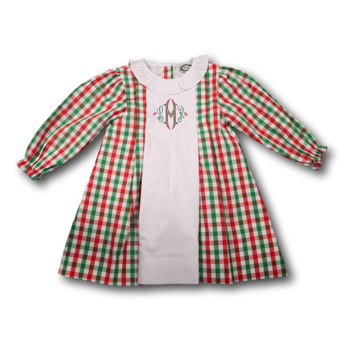 holiday check dress - Christmas Shirts For Girls