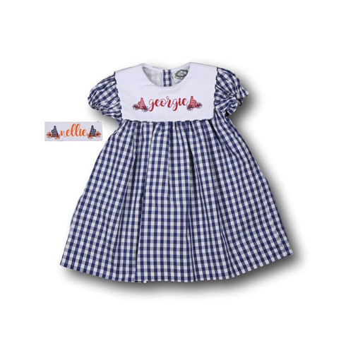 Navy Check Dress (ISCL-D211-18)
