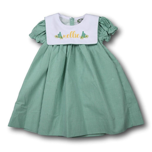 Green Gingham Dress (ISCL-D213-18)