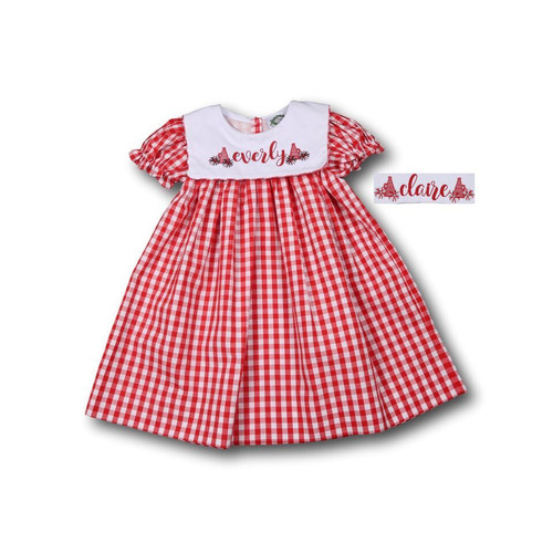 Red Check Dress (ISCL-D214-18)