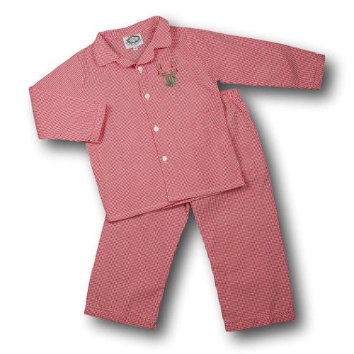 red gingham boys pj set - Christmas Clothes For Kids