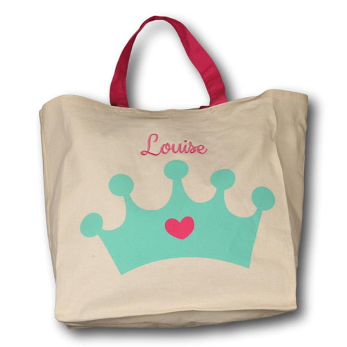 Canvas Crown Halloween Candy Tote