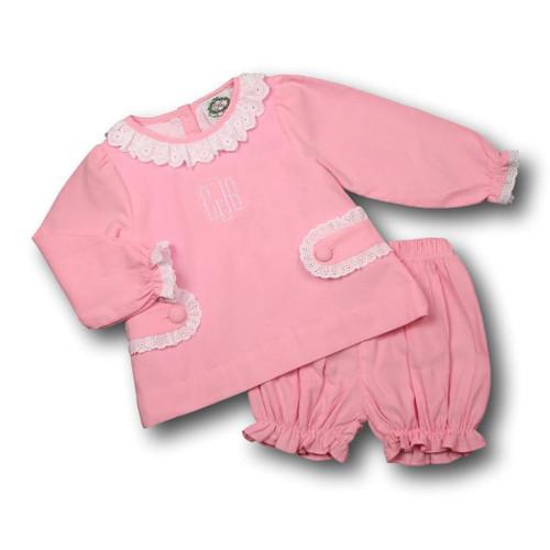 Pink Cord Bloomer Set