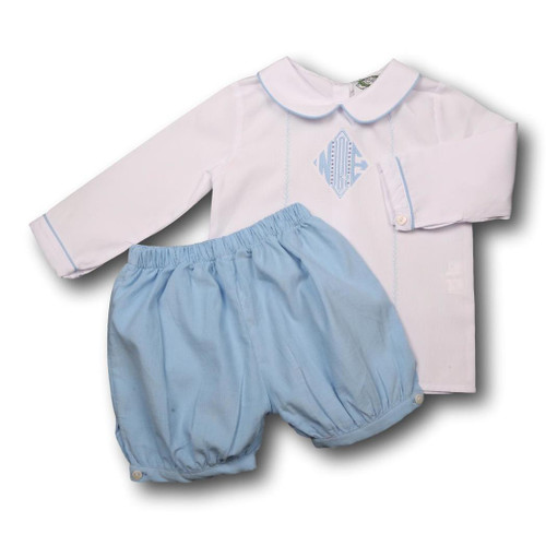 White and Blue Cord Short Set (ISCL-BSS68-18)