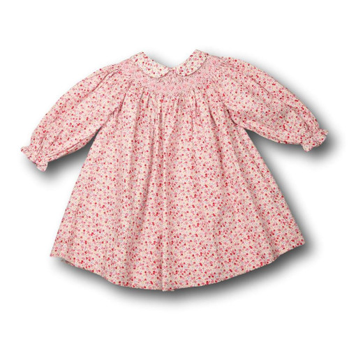 be9284e191 Pink Liberty Smocked Bishop Dress with Collar