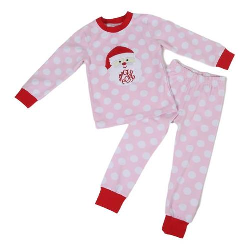 Pink Dot Fuzzy Hat Santa PJ (POCL550-GLW41-18)