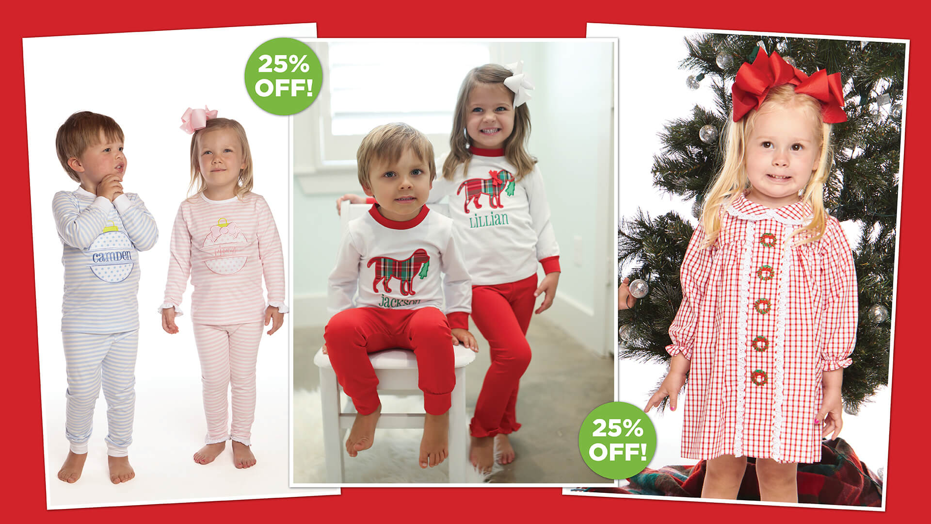 25% OFF Children's Christmas Clothes