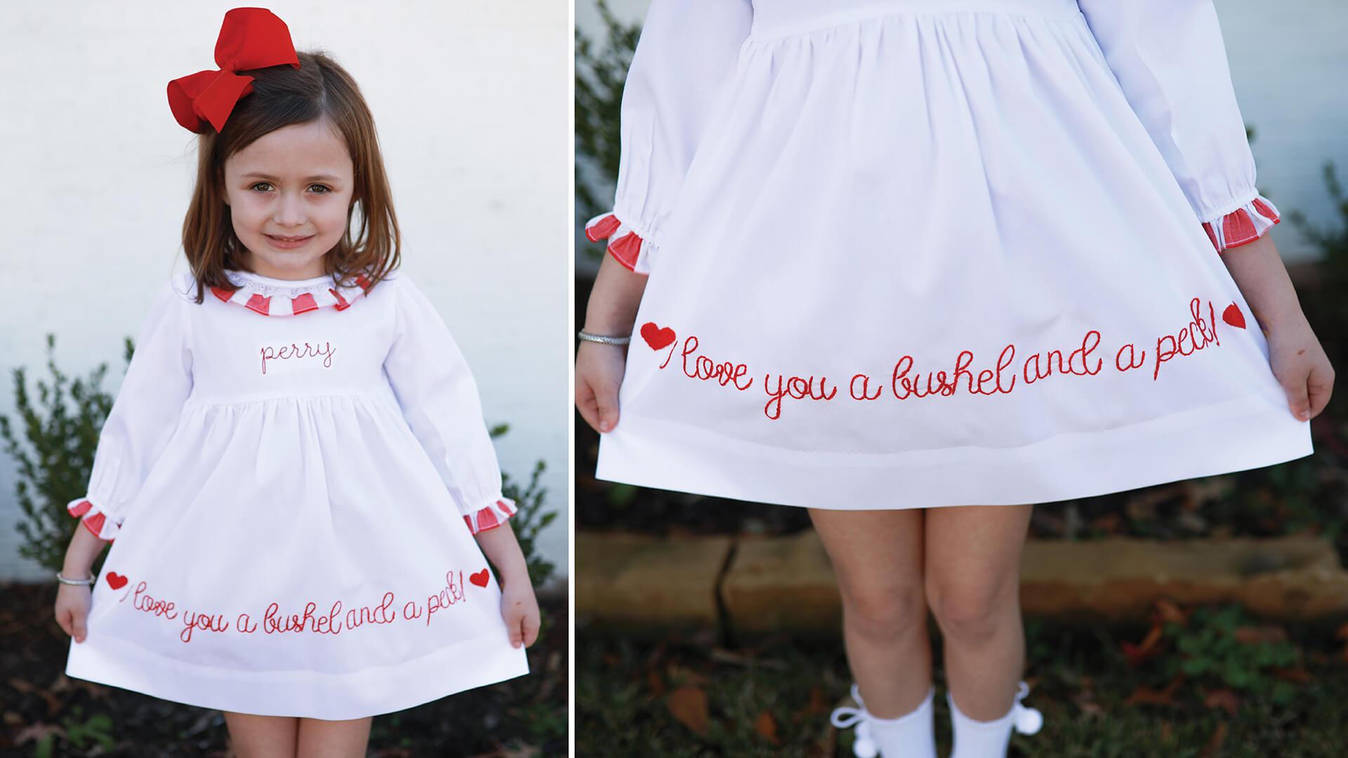 Girls Valentine's Dresses at Cecil & Lou