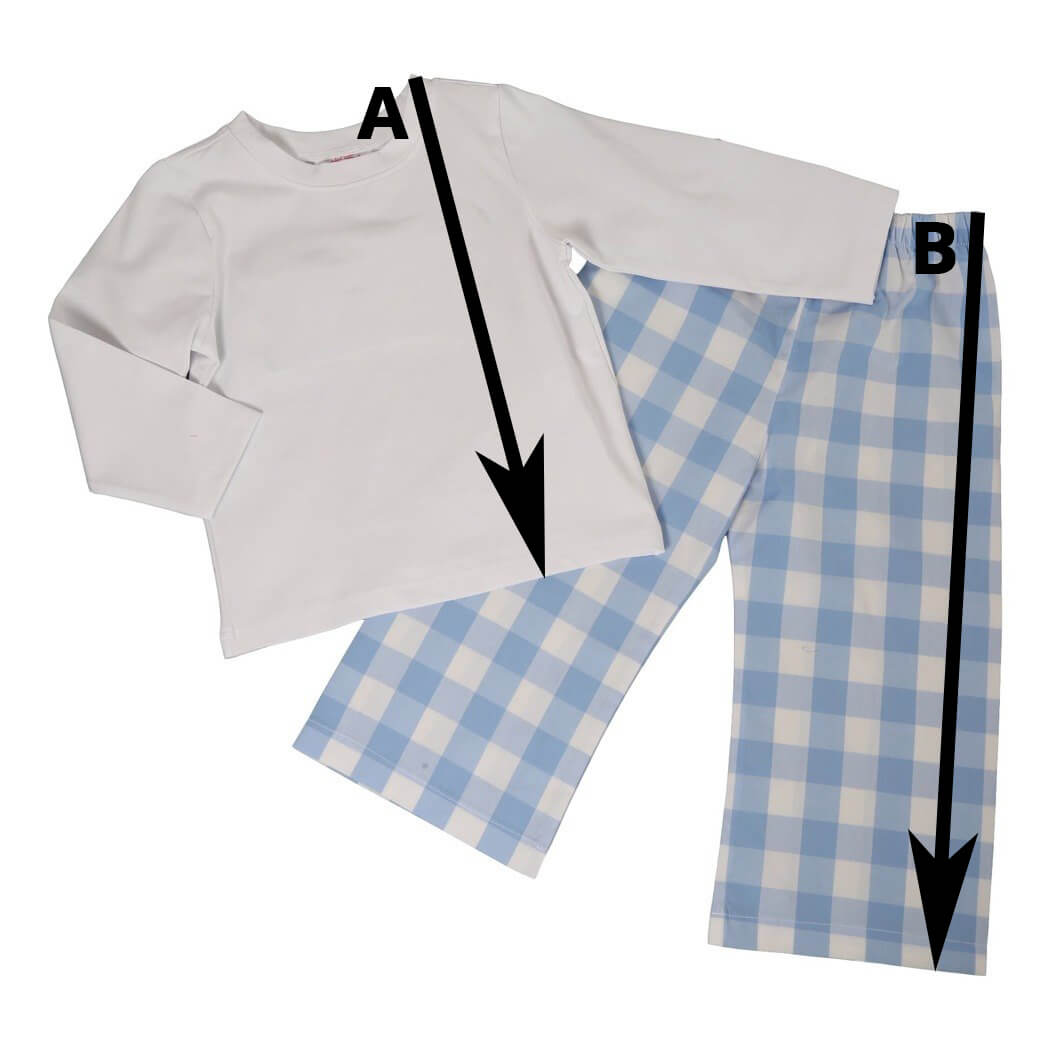 Boys T-Shirt Pant Set Size Chart