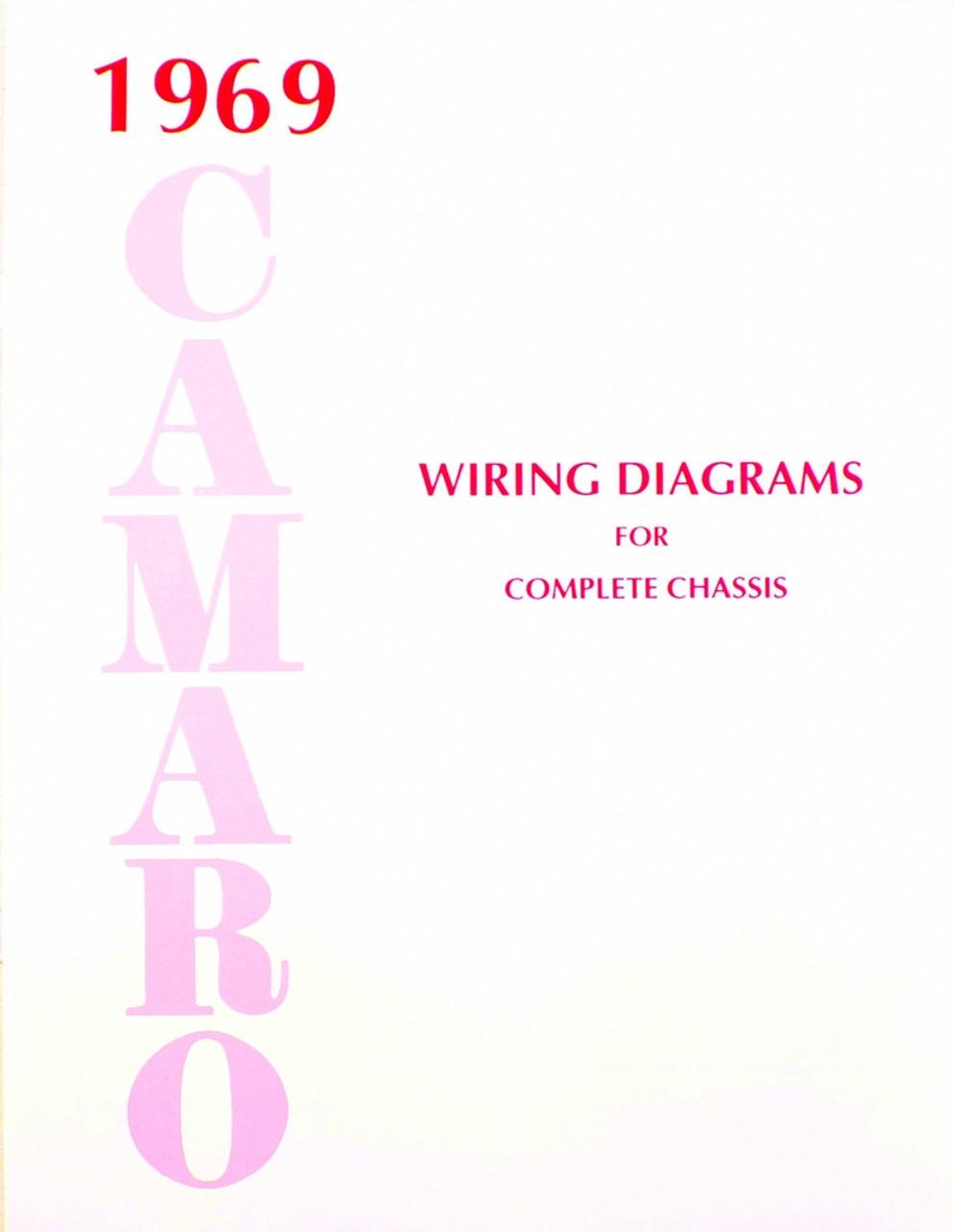 69 Chevy Camaro Electrical Wiring Diagram Manual 1969