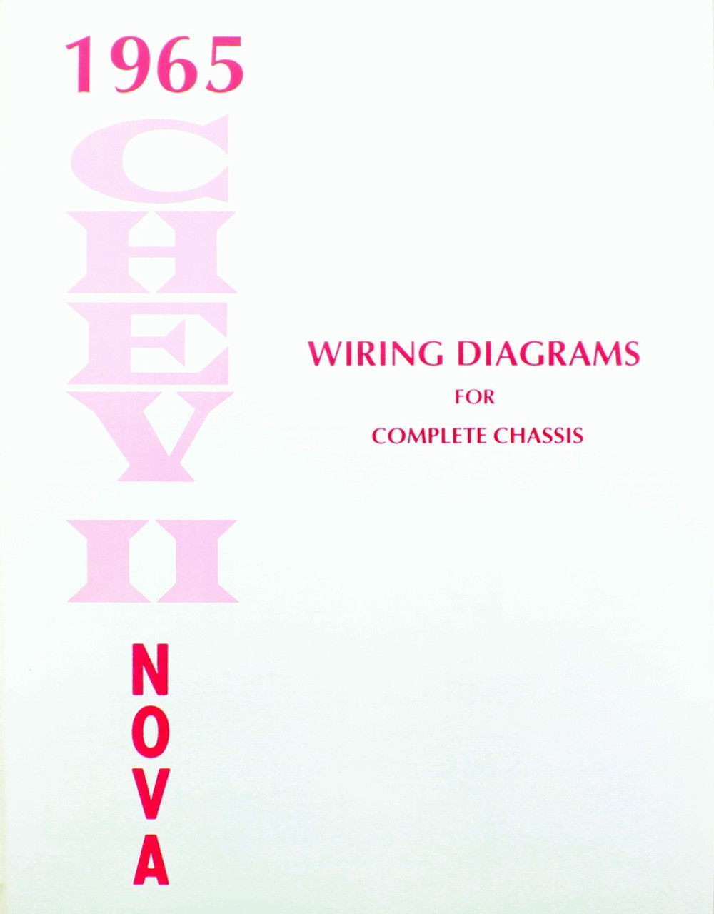 65 1965 Chevy Nova Electrical Wiring Diagram Manual
