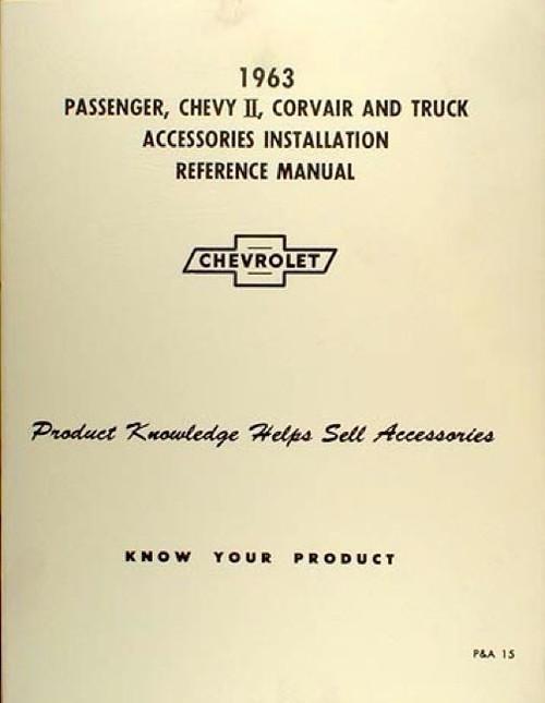 63 Chevy Impala Nova Corvair Truck Accessory Installation Manual New