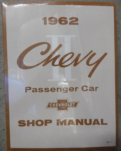 62 63 64 Chevy II Nova Factory Repair Shop Manual Book 1962 1963 1964
