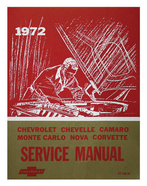 72 Chevy Chevelle Impala Nova Corvette Chassis Service Shop Manual 1972