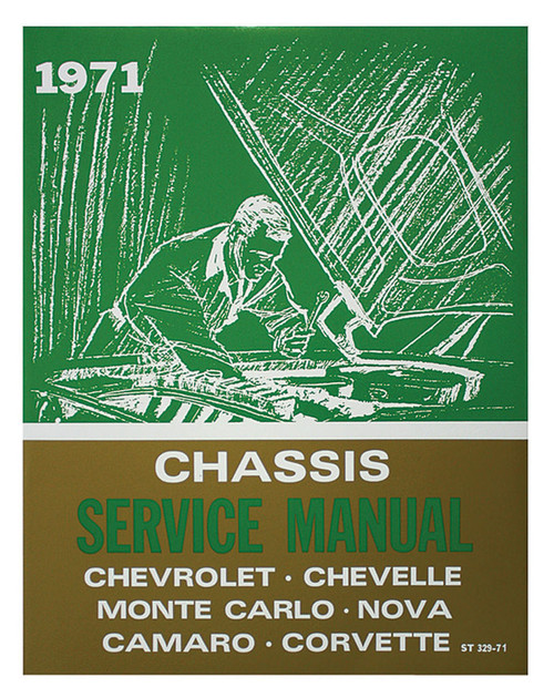 71 Chevy Chevelle Impala Nova Corvette Chassis Service Shop Manual 1971
