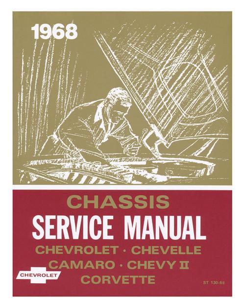 68 CHEVY CHEVELLE IMPALA NOVA CORVETTE CHASSIS SERVICE SHOP MANUAL 1968