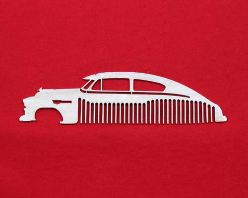 49 50 51 52 Chevy Fleetline Bel Air Brushed Stainless Steel Metal Trim Beard Hair Mustache Comb