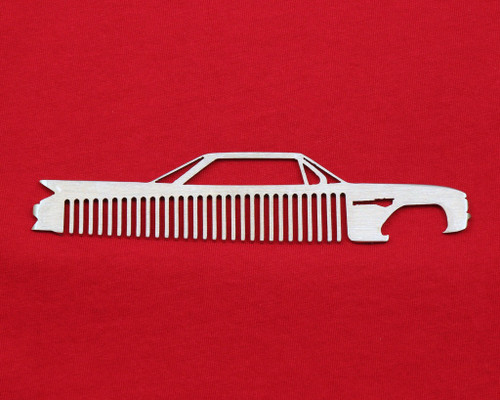 61 62 Cadillac Coupe Deville Brushed Stainless Trim Beard Hair Mustache Comb