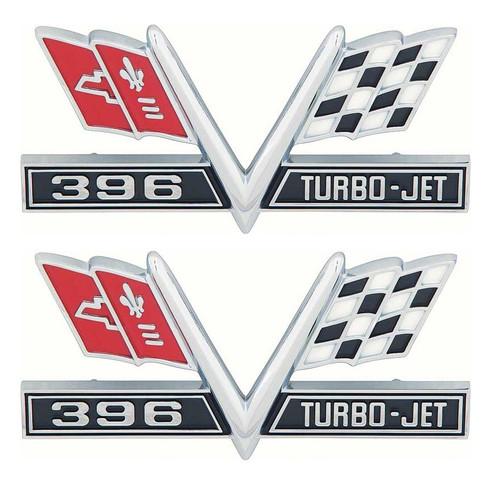 65 66 67 Chevy Impala Chevelle Camaro SS 396 Fender Flags Chrome Trim Emblems
