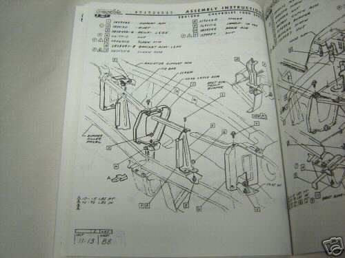 1966 Chevelle Factory Assembly Instruction Manual Wiring Diagram